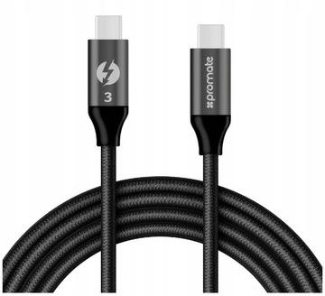 PROMATE KABEL USB-C THUNDERBOLT 3 20Gbps 100W 4K доставка товаров из Польши и Allegro на русском