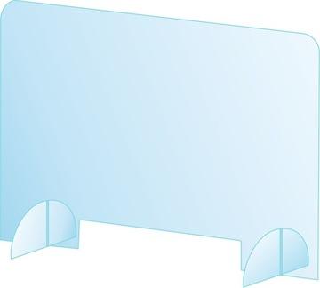Osłona plexi szyba ochronna na biurko szer 80x60