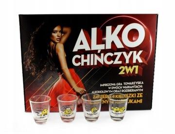 Для вечеринок игра Алко Китаец 2 в 1 + 4 Рюмки доставка товаров из Польши и Allegro на русском