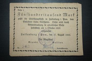 FALKENBURG ZŁOCIENIEC 1923 500 000 REIHE (SERIA) 1 доставка товаров из Польши и Allegro на русском