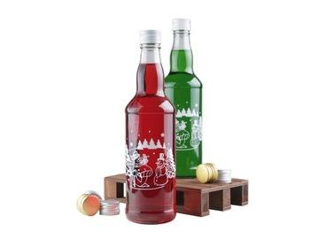 Butelka 500 ml na nalewkę,bimber NADRUK ŚWIĄTECZNY доставка товаров из Польши и Allegro на русском