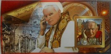 Papież JAN PAWEŁ II Benin 2015 blok #BEN15-04 доставка товаров из Польши и Allegro на русском