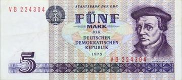 Германия DDR - КУПЮРА - 5 Марок 1975 - MUNTZER доставка товаров из Польши и Allegro на русском