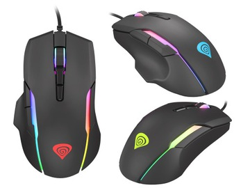 Mysz gamingowa myszka dla graczy RGB LED Genesis доставка товаров из Польши и Allegro на русском