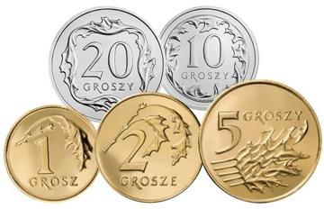 Комплект циркуляционных монет 2003 года. UNC 5 штук доставка товаров из Польши и Allegro на русском