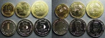 ТАДЗЫКСТАН 2020 набор из 6 монет новый  доставка товаров из Польши и Allegro на русском