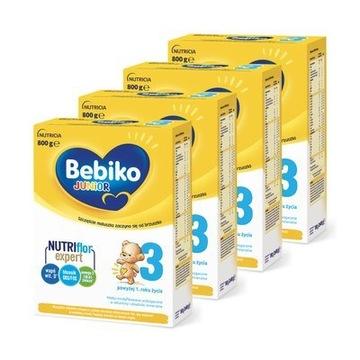 Bebiko Junior 3 с NutriFlor Expert 4x800g доставка товаров из Польши и Allegro на русском