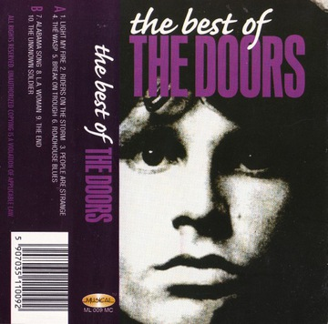 THE DOORS - THE BEST OF [KASETA] доставка товаров из Польши и Allegro на русском