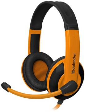 Słuchawki z mikrofonem Defender G-120 pomarańczowe доставка товаров из Польши и Allegro на русском