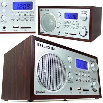 RADIO RETRO Drewniane KUCHENNE BLUETOOTH FM USB доставка товаров из Польши и Allegro на русском