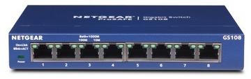 Коммутатор Netgear GS108GE 8-ПОРТОВ gigabit 1000 МБИТ доставка товаров из Польши и Allegro на русском