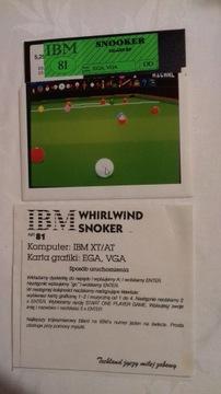 Gry IBM Snooker 81 Atomix 13 dyskietki 5,25