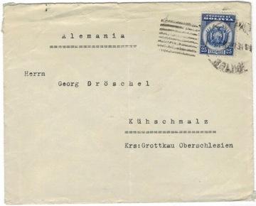 Боливия 1934 Конверт Мне 228 Германия Kobiela Grodków доставка товаров из Польши и Allegro на русском