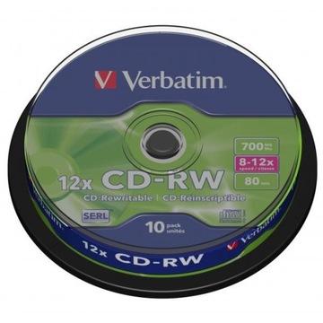ДИСК VERBATIM CD-RW SERL, 700MB СКОРОСТЬ 12X CAKE доставка товаров из Польши и Allegro на русском