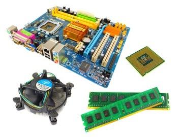 КОМПЛЕКТ ПЛИТА + QUAD CORE 4x2.5 ггц + 4 гб ОПЕРАТИВНОЙ памяти DDR2 доставка товаров из Польши и Allegro на русском