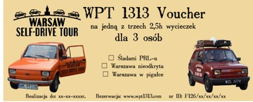 Voucher na prezent Wycieczka Maluchem Warszawa доставка товаров из Польши и Allegro на русском
