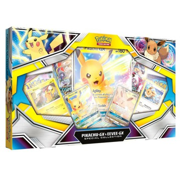 Pokemony Pikachu i Eevee GX karty kolekcjonerskie доставка товаров из Польши и Allegro на русском