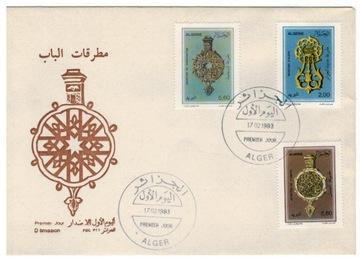 FDC Марки Алжир 1993 колотушки двери фольклор доставка товаров из Польши и Allegro на русском
