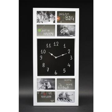 Ramka na zdjęcia z zegarem biała, wysokość 76cm доставка товаров из Польши и Allegro на русском