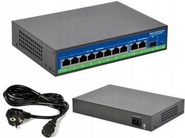 (Switch 8 портов PoE 48V + 2 Гигабитных порта 1000 мбит/Сек) доставка товаров из Польши и Allegro на русском