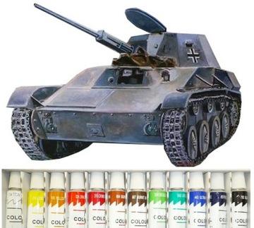 (МОДЕЛЬ ТАНК PzKpfW T-60 ДЛЯ СКЛЕИВАНИЯ +КРАСКИ + КЛЕЙ) доставка товаров из Польши и Allegro на русском