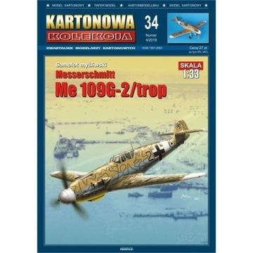 Kartonowa Коллекция 34 Самолет Me-109-2/trop 1:33 доставка товаров из Польши и Allegro на русском