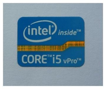042e Naklejka Intel Core i5 vPro 21x16mm доставка товаров из Польши и Allegro на русском