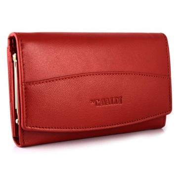 Skórzany portfel damski Cavaldi RFID czerwony 06 доставка товаров из Польши и Allegro на русском