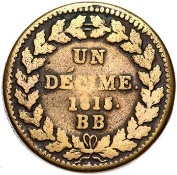 + НАПОЛЕОН франция - 10 Сантимов UN DECIME 1815 BB доставка товаров из Польши и Allegro на русском
