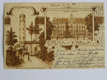 Koszalin Coeslin poczta wieża 1899 lit sec vorlauf доставка товаров из Польши и Allegro на русском