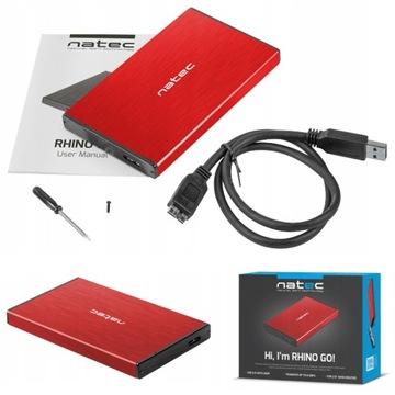 Корпус диска Natec Rhino ЕГО 2,5 HDD SATA USB 3.0 доставка товаров из Польши и Allegro на русском