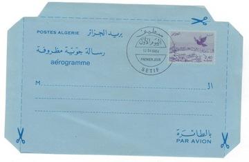 Алжир 1984 Аэрограмме голубь номер порт доставка товаров из Польши и Allegro на русском