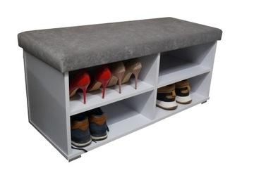 Обувной шкаф с сиденьем ADI 100 pouffe bookcase доставка товаров из Польши и Allegro на русском