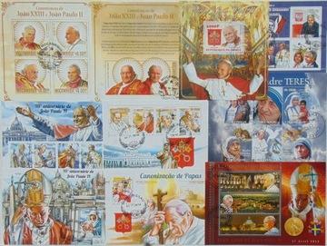 Papież Jan Paweł II 100 bloczków, ark. mega zestaw доставка товаров из Польши и Allegro на русском