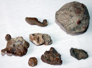 Zestaw 7 minerałów meteorytów? meteoryt? rnamagnes доставка товаров из Польши и Allegro на русском