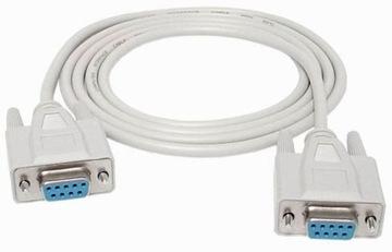 Kabel szeregowy DB9 RS232 COM F-F 1.5m null modem доставка товаров из Польши и Allegro на русском
