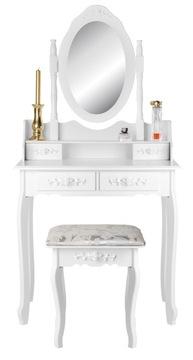 Туалетный столик и КОСМЕТИЧЕСКОЕ ЗЕРКАЛО стильный ВИНТАЖ доставка товаров из Польши и Allegro на русском