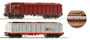 Zestaw 2 wagonów z ładunkiem drewna Roco 76076 H0 доставка товаров из Польши и Allegro на русском