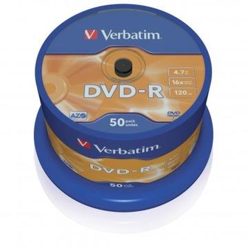 ДИСК VERBATIM DVD-R LO 4,7 ГБ, СКОРОСТЬ 16Х, CAKE доставка товаров из Польши и Allegro на русском