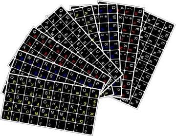 Наклейки УКРАИНСКАЯ РУССКАЯ клавиатура 10 шт. доставка товаров из Польши и Allegro на русском
