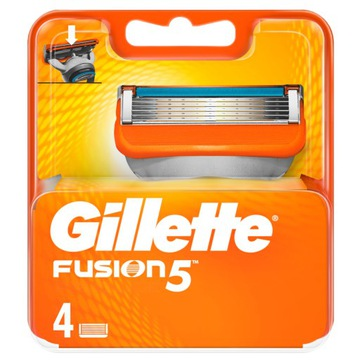 Gillette FUSION лезвия картриджи 4шт 100% ОРИГИНАЛЬНЫЕ доставка товаров из Польши и Allegro на русском