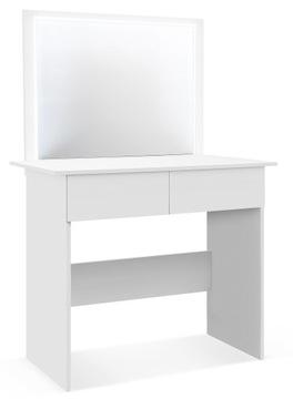 ТУАЛЕТНЫЙ столик с зеркалом Профиль СВЕТОДИОДНЫЙ для макияжа визажа доставка товаров из Польши и Allegro на русском
