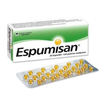 ESPUMISAN lek na wzdęcia kolki 40 mg 25 kapsułek