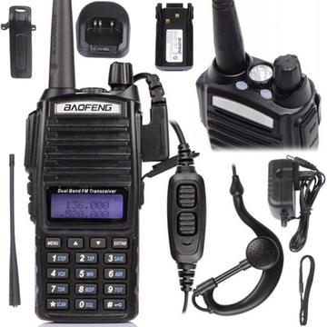 Baofeng UV-82 HT 8W Радио СКАНЕР ПОЛИЦИИ СКОРОЙ помощи доставка товаров из Польши и Allegro на русском