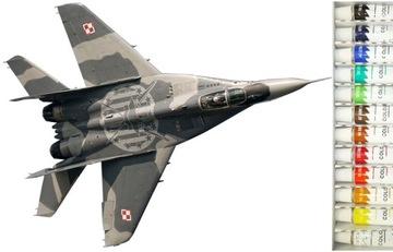 САМОЛЕТА ДЛЯ СКЛЕИВАНИЯ МИГ-29M ПОЛЬША + КРАСКИ + КЛЕЙ доставка товаров из Польши и Allegro на русском