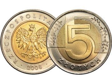 DESTRUKT 5 злотых 2008 в MENNICZYM состоянии из желчного доставка товаров из Польши и Allegro на русском