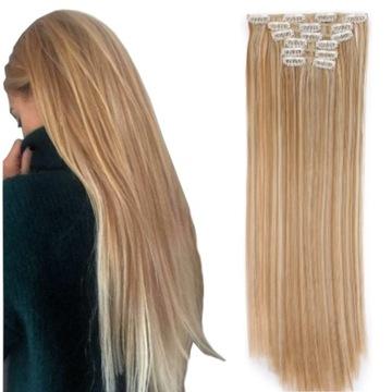 CLIP IN ON прицепные волосы 6 лент 60 см DOPINKI доставка товаров из Польши и Allegro на русском