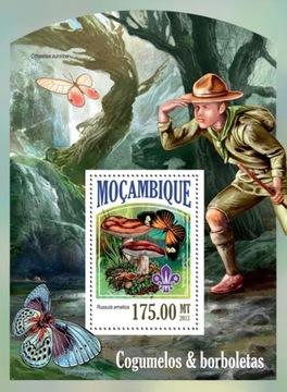 Grzyby motyle skauting Mozambik blok #07MOZ13527b доставка товаров из Польши и Allegro на русском
