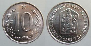 9032. ЧЕХОСЛОВАКИЯ, 10 HALERS, 1969. MENNICZE  доставка товаров из Польши и Allegro на русском