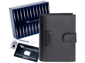 KOCHMANSKI portfel męski skórzany skóra RFID duży